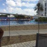 Pool side views and room views from block 4 floor 1
