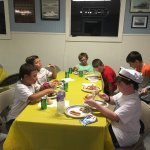 Overnight birthday party fun!