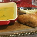 The 'Gambas' consisted of 5 prawns in a dish of melted garlic butter with a side of bread.