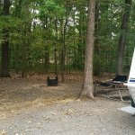 private and spacious campground- no need to pull out canopy, plenty of shade