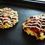 Learned how to make home made Okonomiyaki!