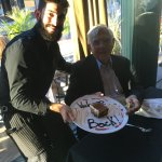 My good Perry with the wonderful Gianfranco and our delicious dessert.