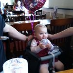 Birthday family meal for a 1 year old