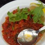 Ezme salata was ok  but needed pomegranate sauce