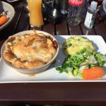 Great chicken pie in the beer garden on a fab summer day