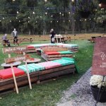 We set-up a Rustic Outdoor Lounge beside the BBQ Venue