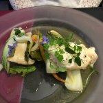 Filet de flétan, sauce aux câpres et citron vert