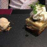 Sablé breton à la cannelle, pomme fondante, glace spéculos