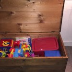 Toy chest in the Gallery cottage