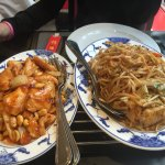 Awesome Kun Pao Chicken and Chicken with Noodles