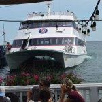 A Catamaran arriving