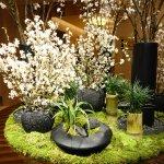 Front entrance flower arrangement