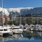 View of Table Mountain looking towards marina