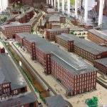 The LEGO display of the Manchester mills during the 1800's.