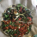 We enjoyed the food and experience here.  The pizza is very unique and delicious.  The chicken m