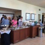 Executive Lounge Modest breakfast spread... Omaha Hilton