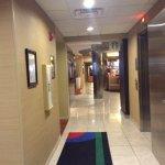 Hallway by elevators