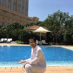 澳門四季酒店,漂亮的大堂,典雅的噴泉和小巧的泳池!