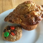 Cookie and Morning Glory Muffin