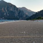 Cirali beach -- Olympos is at the far end of the beach