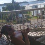 Emjoyin the hammock