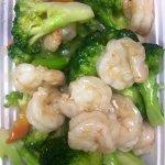 Part of the shrimp veggie dinner. Tasty!