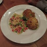 Eastern shore crab cakes with fried green tomatoes