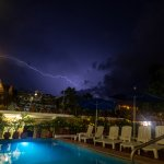 Lighting storm taken from pool on the second floor