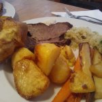 Roast beef dinner (well done)