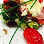 Biltong and strawberry salad
