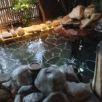 Outdoor/open air onsen area