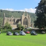 Tintern Abbey next to the Royal George Hotel