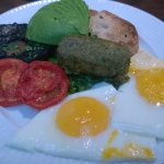 Vegetarian Breakfast. Seemed small at first, but was deliciously filling.