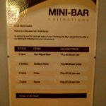 Charge for mini-bar