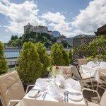 Dachterrasse mit atemberaubenden Blick auf die Festung Kufstein - ein Highlight für besondere An