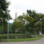 ホテル前の公園