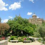 Huerto Jardín de Calixto y Melibea con la catedral al fondo
