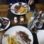 Weekend lunch Steak+fries £10 option