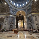 Inside St Peter's Basiillica during our private tour.
