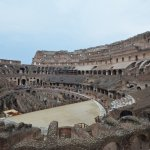 Inside the Colloseum. Carlo parked where we would come out and brought the vehicle to us.