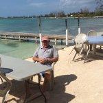 Sitting by Anegada reef hotel