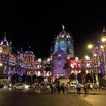 CST station during Diwali