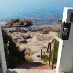escalier prive accès a crique et plage