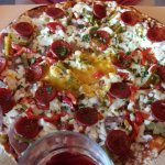 pizza viande haché avec sup chorizzo