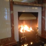 A welcoming hearth at the Killarney Plaza Hotel.