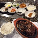 Beef Galbi (Kalbi) and side dishes