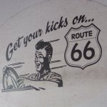 Get your kicks on Route 66 outdoor/window sign