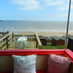 View from one of our beach huts