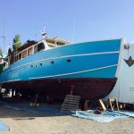 Plenty of cool vessels to see in the adjacent working boatyard.