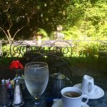 Breakfast outside at the Village Cafe, Blowing Rock, NC